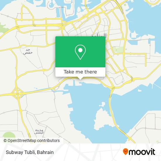 Subway Tubli map