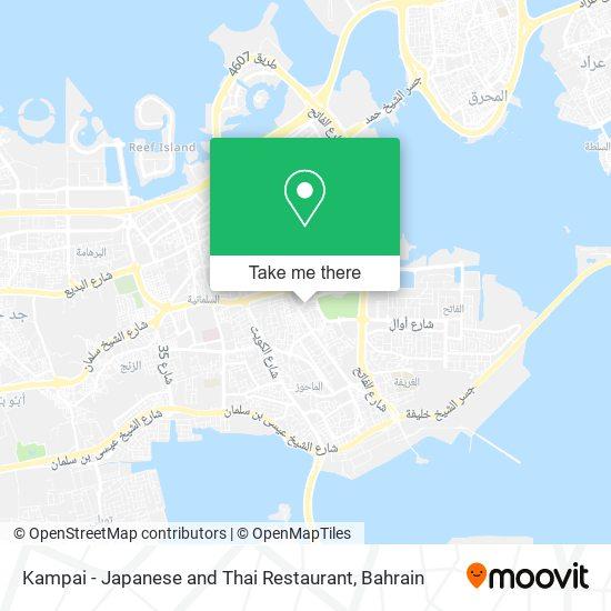Kampai - Japanese and Thai Restaurant map