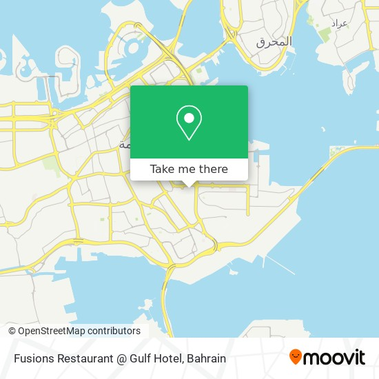 Fusions Restaurant @ Gulf Hotel map