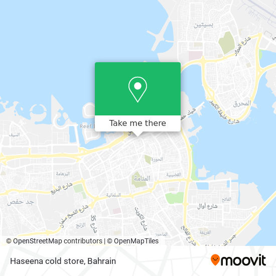 Haseena cold store map