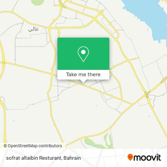 sofrat altaibin Resturant map