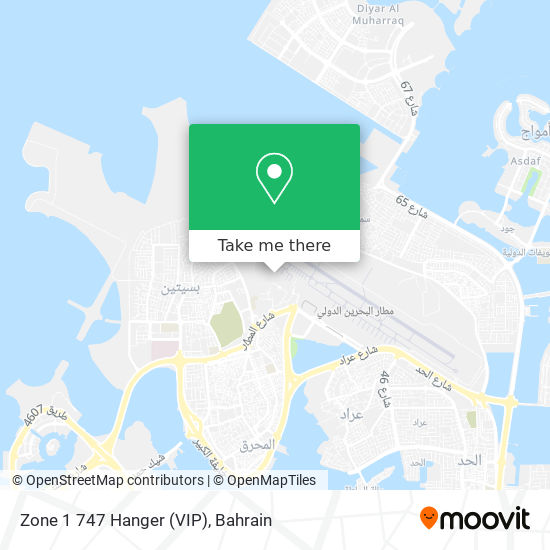 Zone 1 747 Hanger (VIP) map