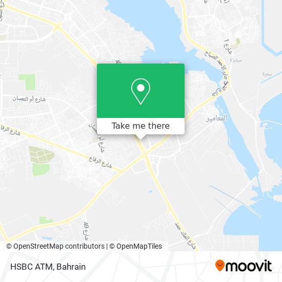 HSBC ATM map