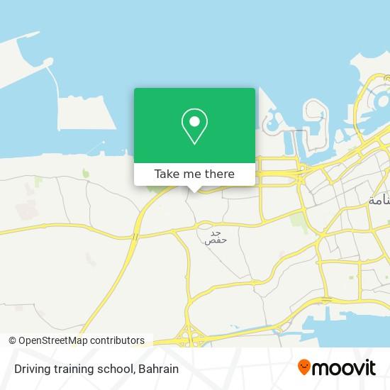 Driving training school map