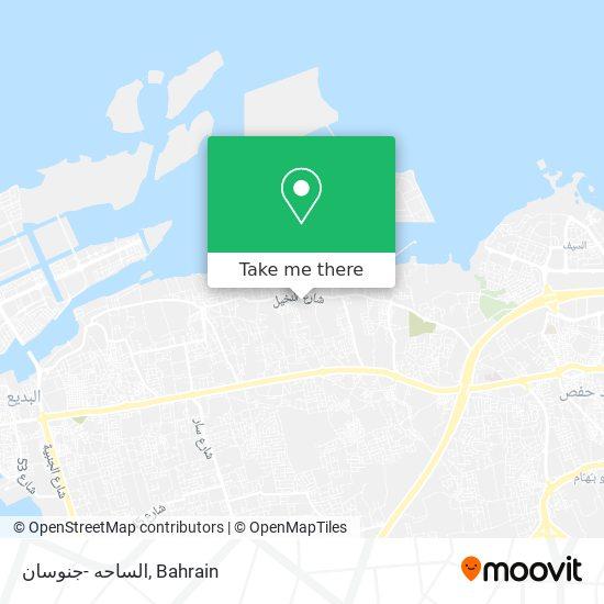 الساحه -جنوسان map