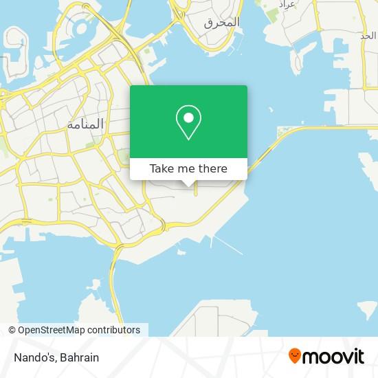 Nando's map