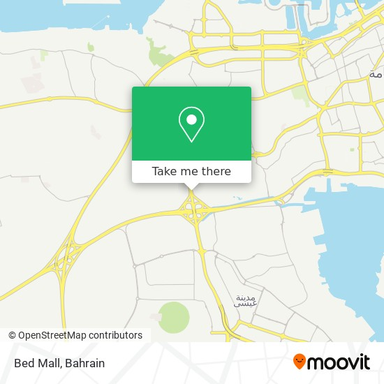 Bed Mall map