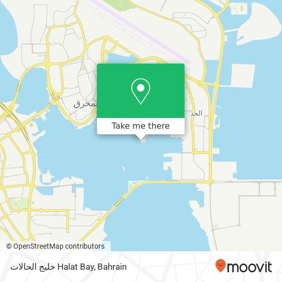 خليج الحالات Halat Bay map