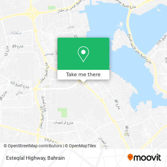 Esteqlal Highway map