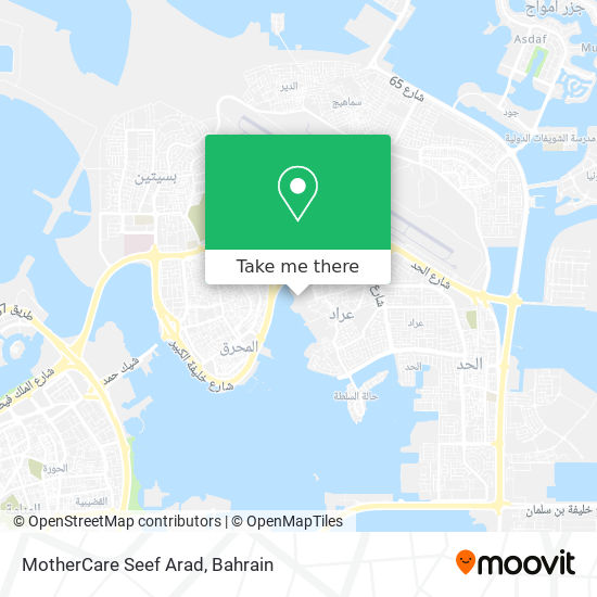MotherCare Seef Arad map