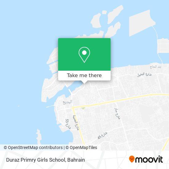 Duraz Primry Girls School map