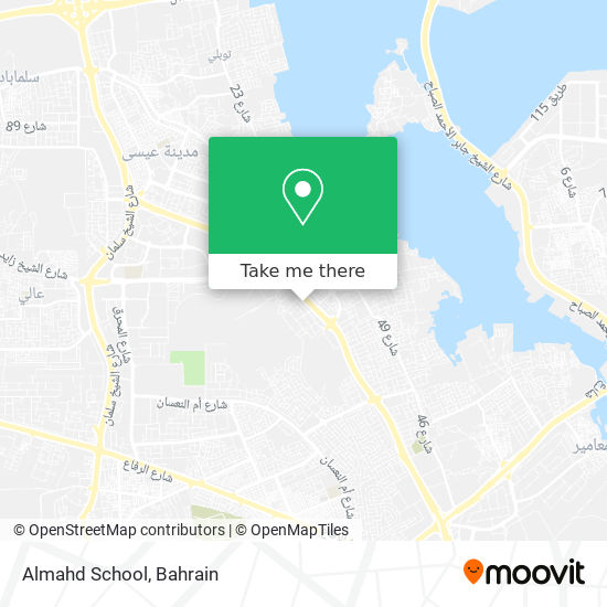Almahd School map