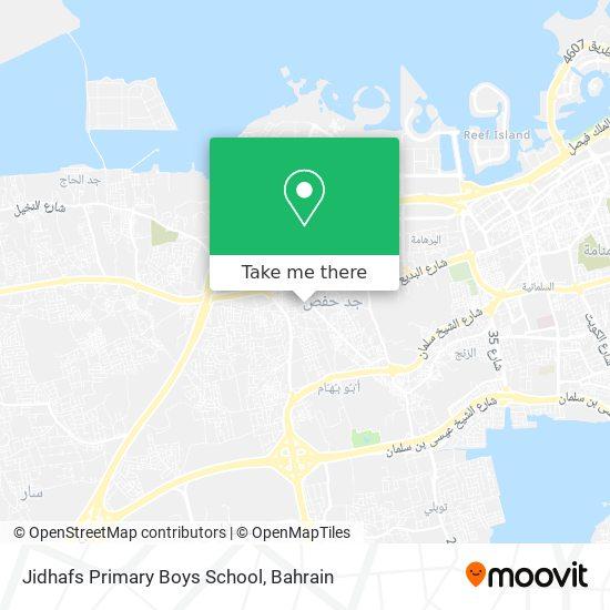 Jidhafs Primary Boys School map