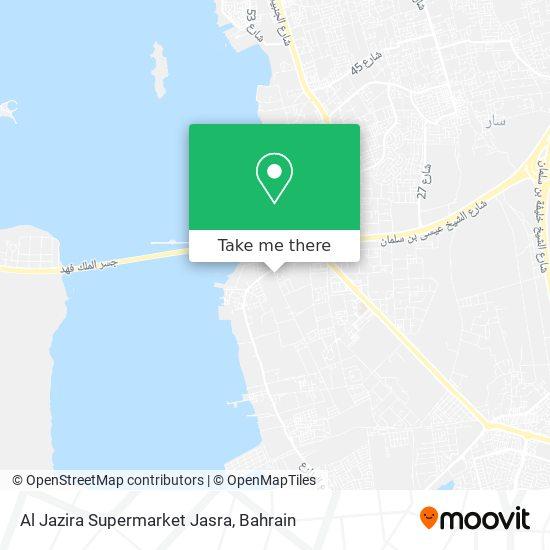 Al Jazira Supermarket Jasra map