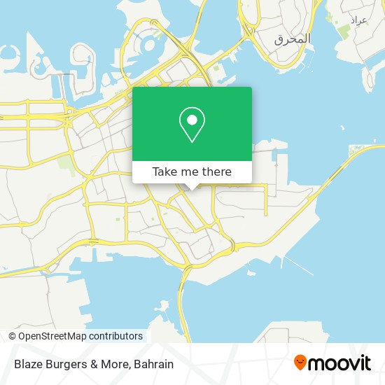 Blaze Burgers & More map