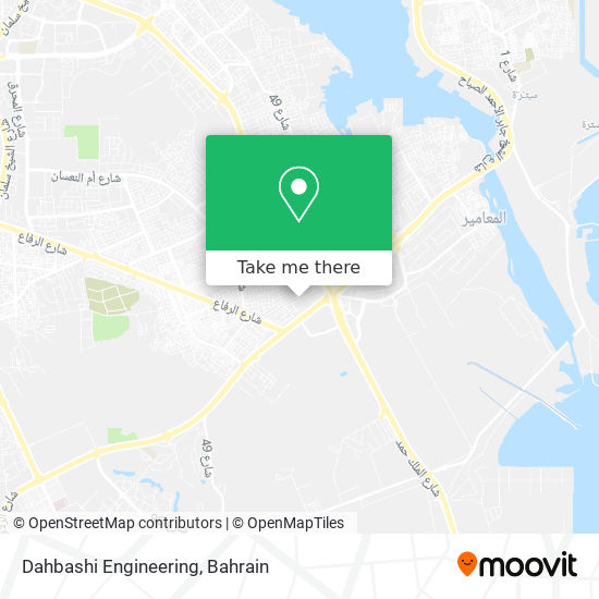 Dahbashi Engineering map