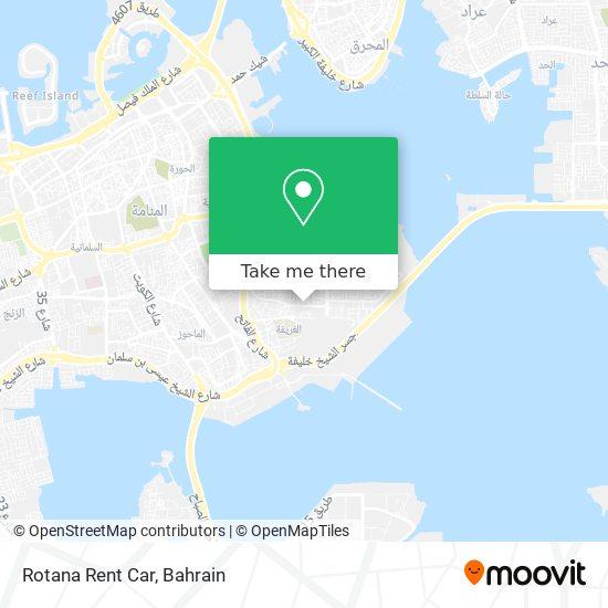 Rotana Rent Car map