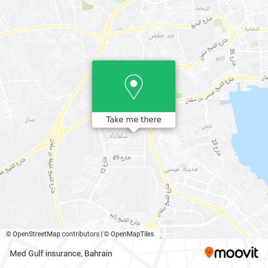 Med Gulf insurance map