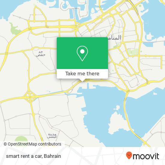 smart rent a car map