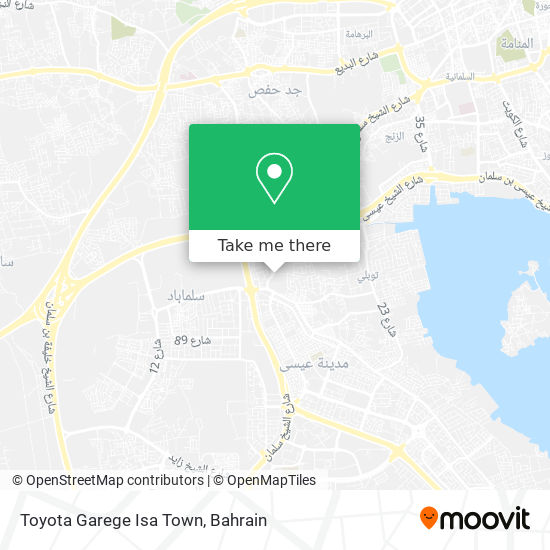 Toyota Garege Isa Town map
