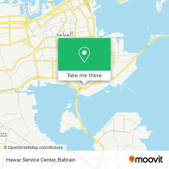 Hawar Service Center map