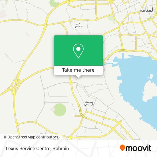 Lexus Service Centre map
