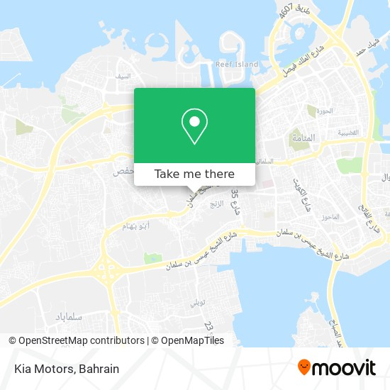 Kia Motors map