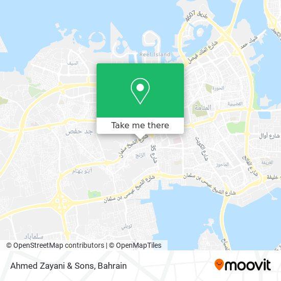 Ahmed Zayani & Sons map