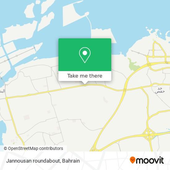 Jannousan roundabout map