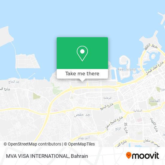MVA VISA INTERNATIONAL map