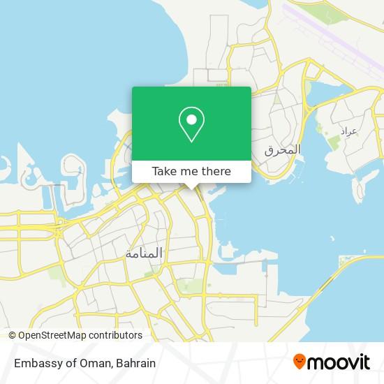 Embassy of Oman map