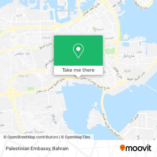 Palestinian Embassy map
