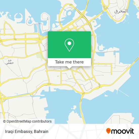 Iraqi Embassy map