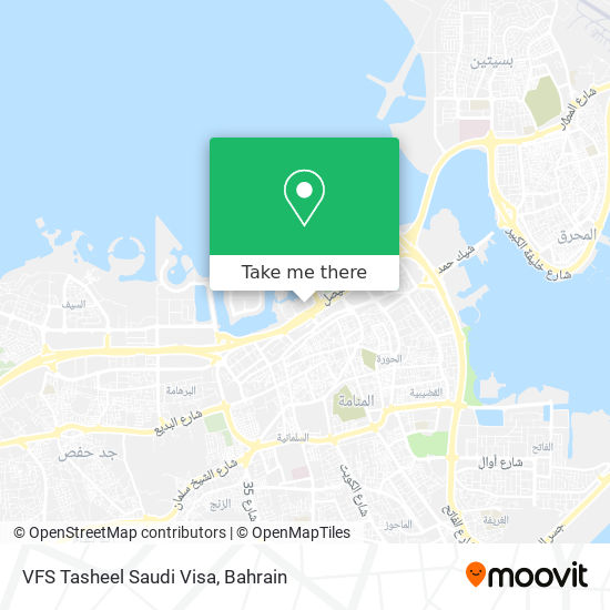 VFS Tasheel Saudi Visa map