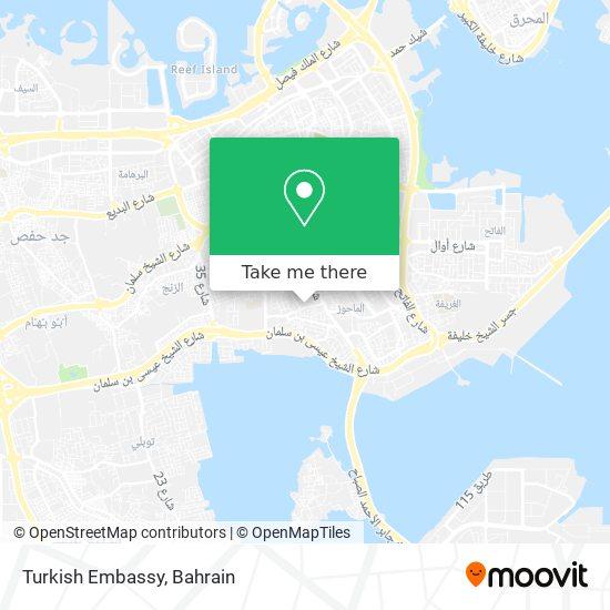 Turkish Embassy map