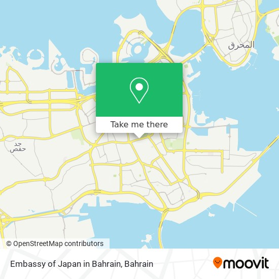 Embassy of Japan in Bahrain map