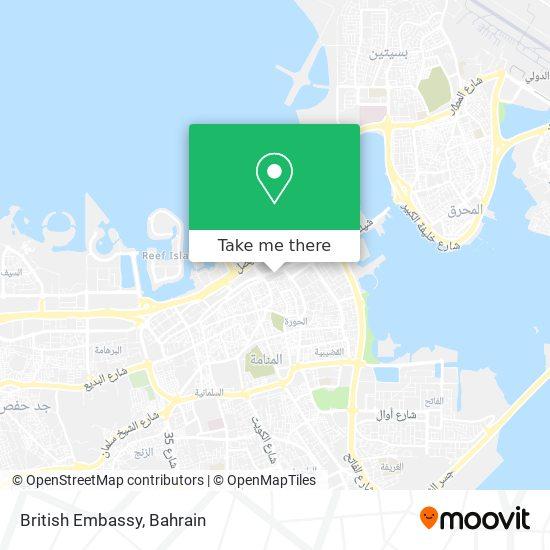 British Embassy map