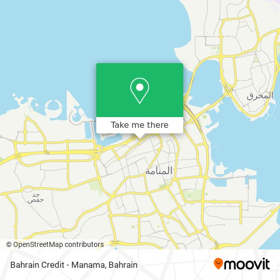 Bahrain Credit - Manama map