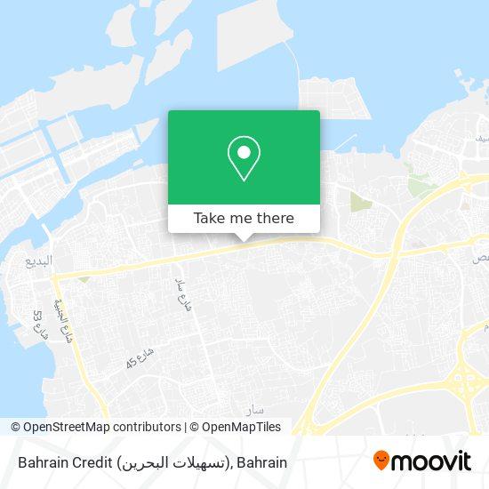 Bahrain Credit (تسهيلات البحرين) map