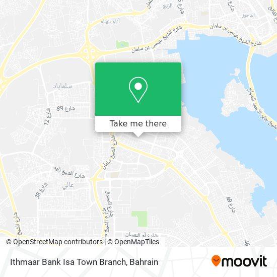 Ithmaar Bank Isa Town Branch map