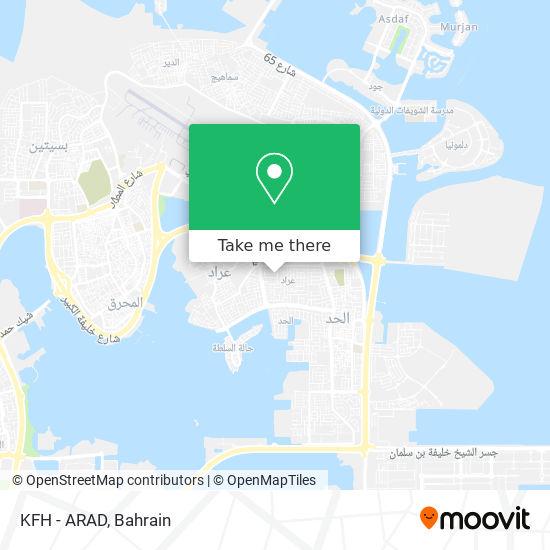 KFH - ARAD map