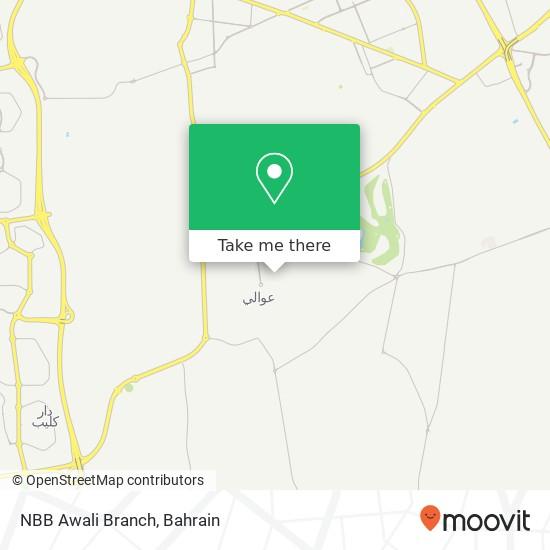 NBB Awali Branch map