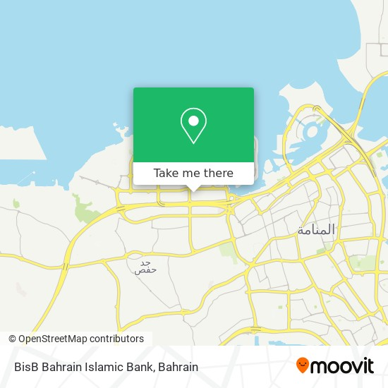 BisB Bahrain Islamic Bank map