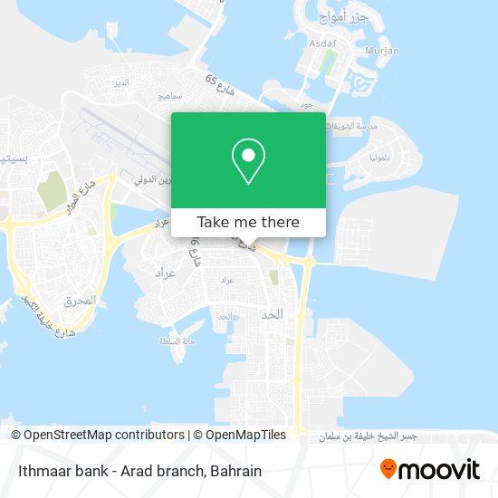 Ithmaar bank - Arad branch map