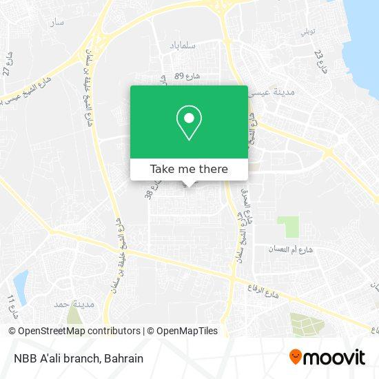 NBB A'ali branch map
