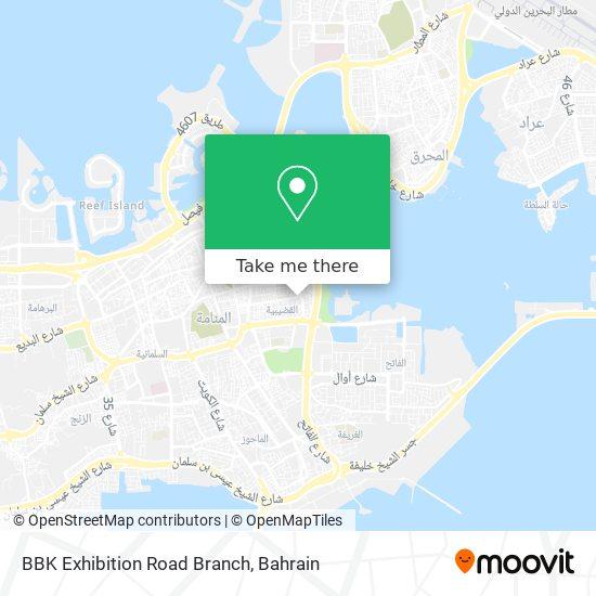 BBK Exhibition Road Branch map