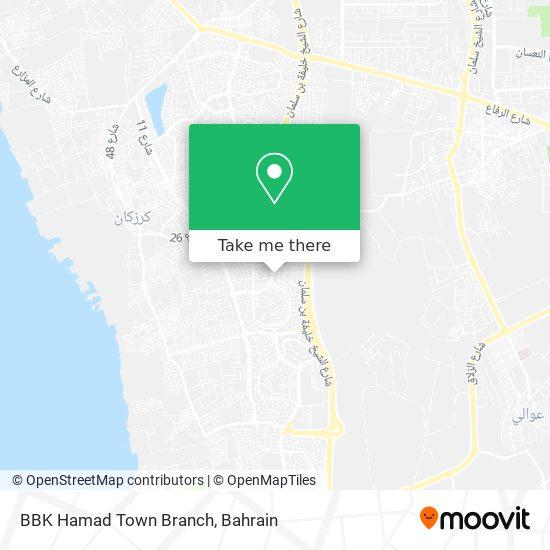 BBK Hamad Town Branch map