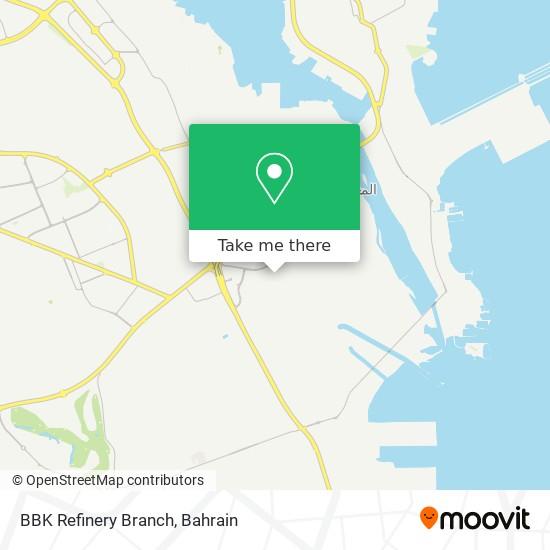 BBK Refinery Branch map