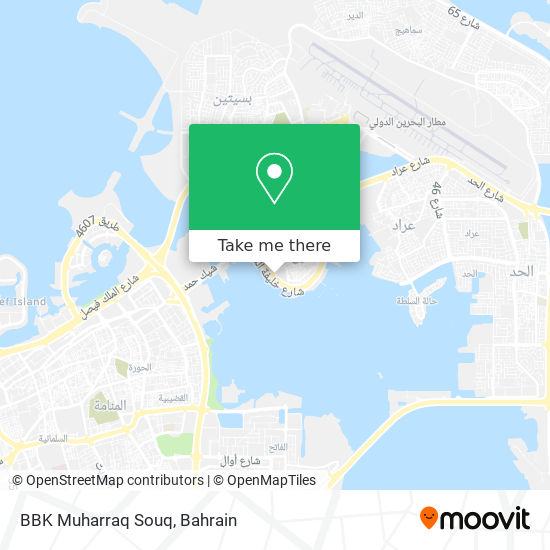BBK Muharraq Souq map