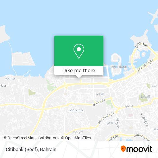 Citibank (Seef) map